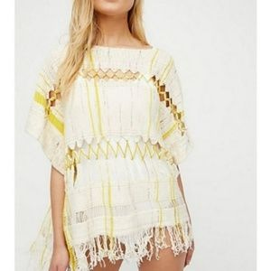 Free People Sundream Pullover Sweater Poncho NWT